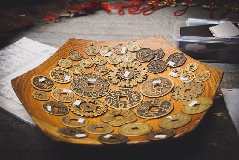 стародедовские монетки стоковые изображения