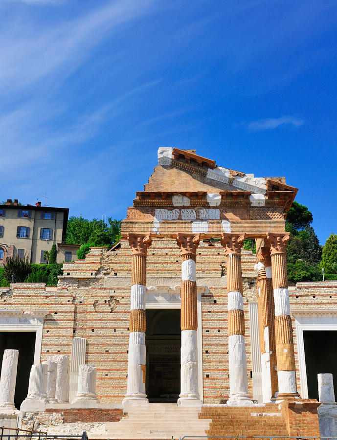 Форум Брешии, Италии. стоковое фото rf