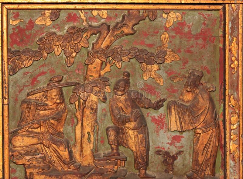 стародедовские carvings стоковая фотография rf