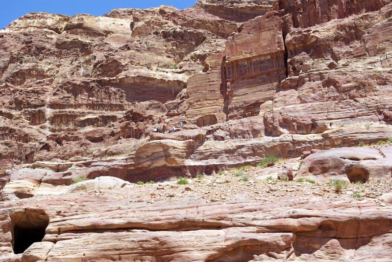 стародедовский petra города Иордан стоковое фото rf