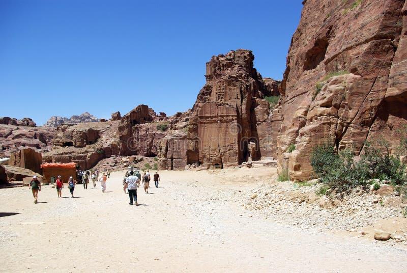 стародедовский petra города Иордан стоковые фото