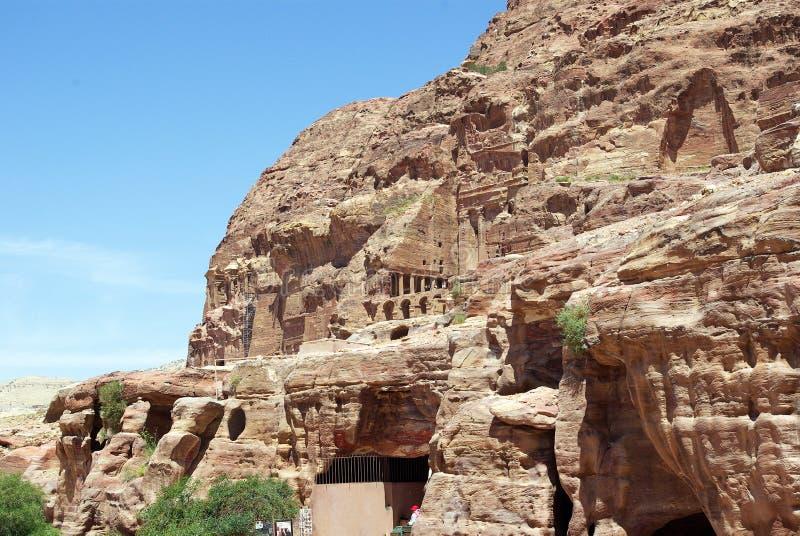 стародедовский petra города Иордан стоковое изображение rf