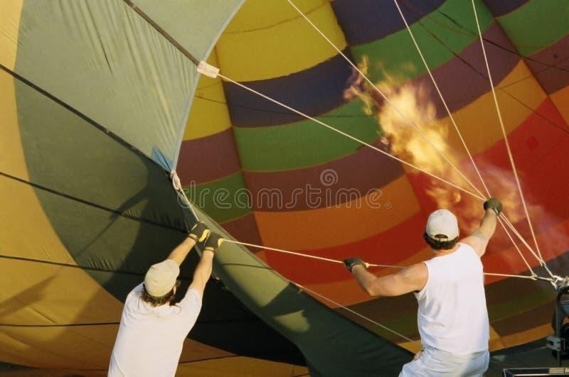 старт воздушного шара стоковое фото rf