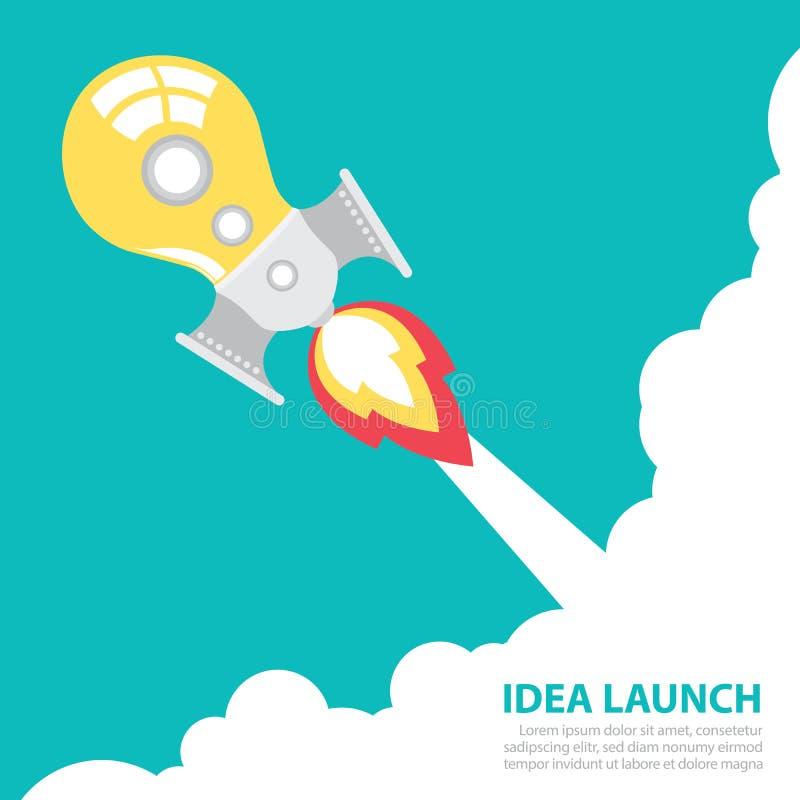 Старт ракеты идеи иллюстрация штока