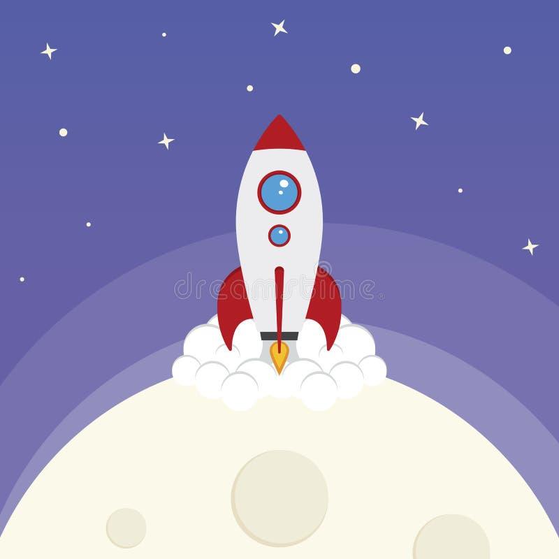 Старт Ракеты космоса вектора шаржа бесплатная иллюстрация