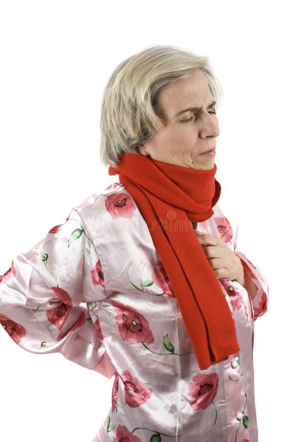 старшая больная женщина стоковые фото