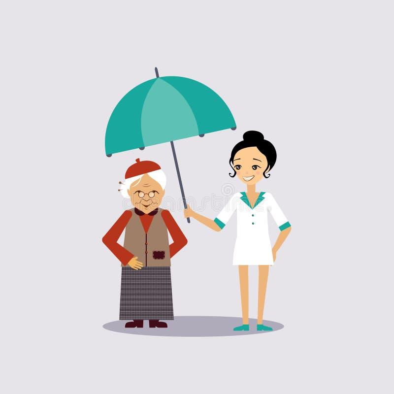 Старшее медицинское страхование иллюстрация вектора