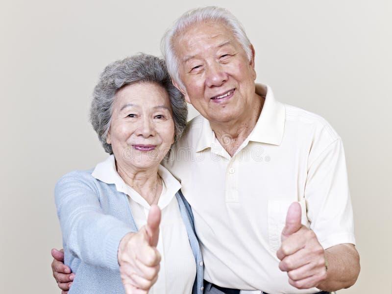 Старшие азиатские пары стоковое фото rf