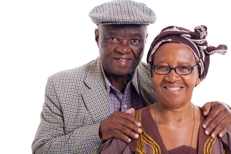 Старшие африканские пары стоковые фотографии rf
