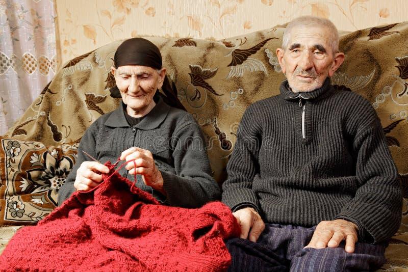 Старшие супруги стоковая фотография rf