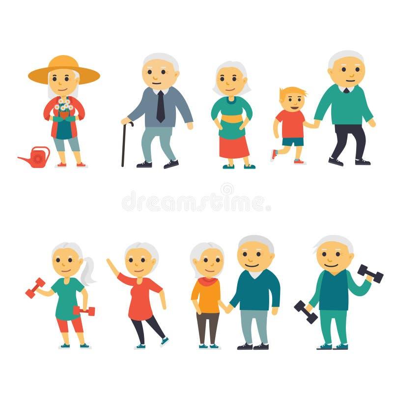 Старшие люди иллюстрация штока