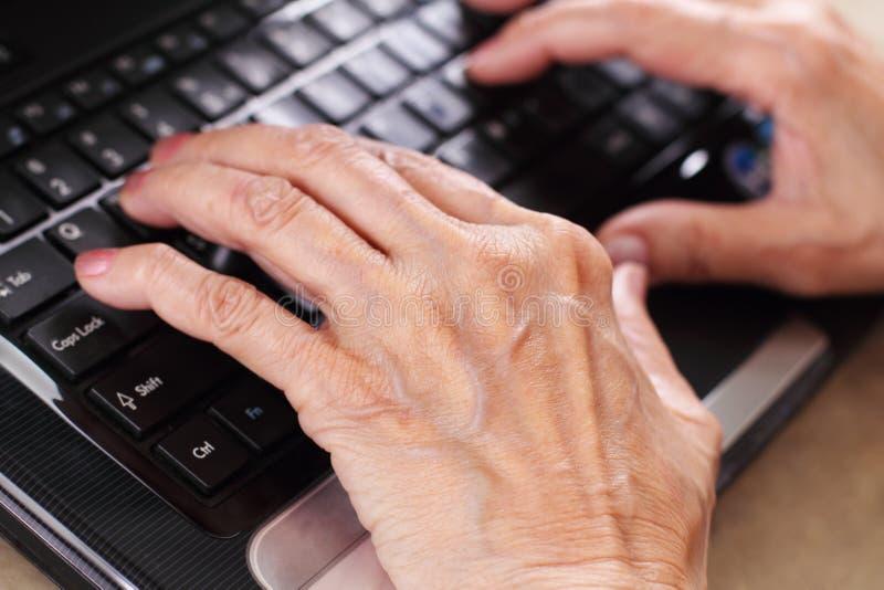 старшии компьютера стоковая фотография