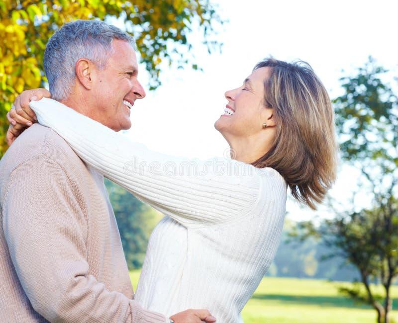 старшии пожилых людей пар стоковая фотография