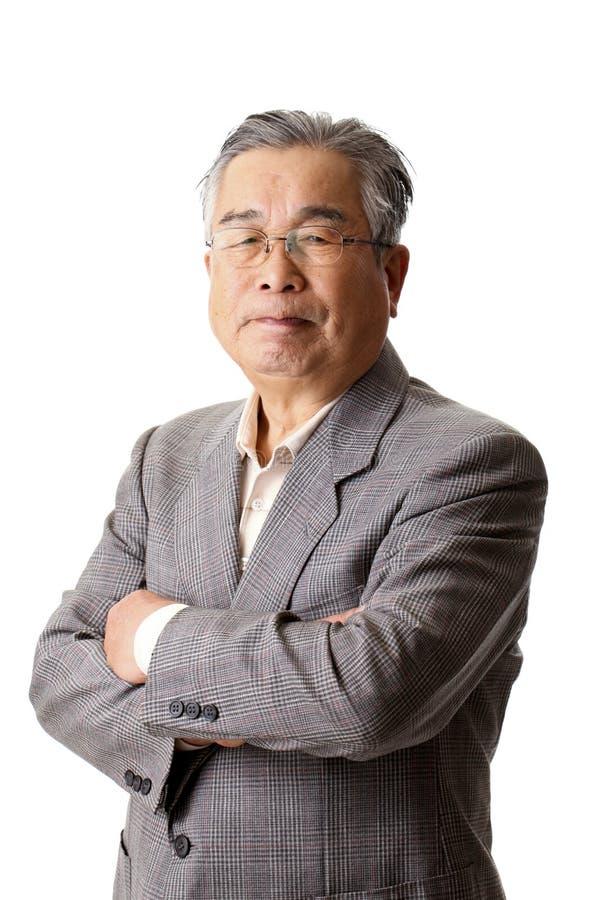 Старший азиат стоковое фото