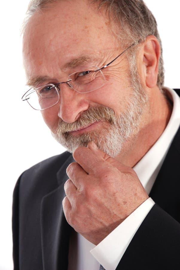 старший бизнесмена стоковое фото rf