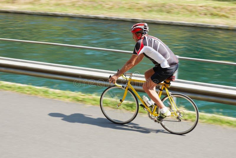 старший велосипедиста стоковые фотографии rf
