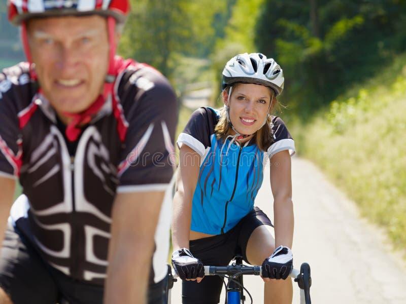 старший велосипедиста стоковые изображения
