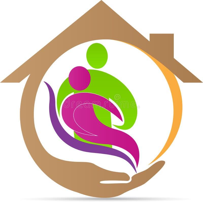 Старший логотип заботы иллюстрация штока