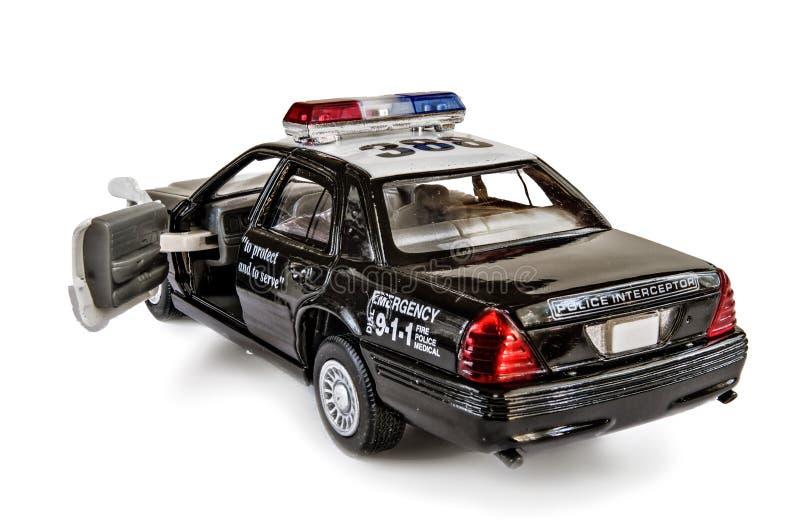 Старший офицер игрушки автомобиль на белой предпосылке стоковые изображения rf