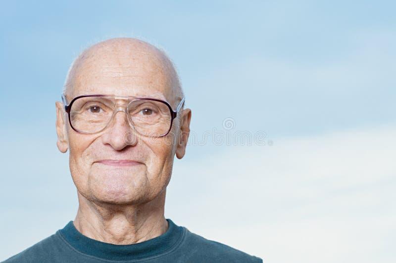 старший портрета человека стоковое изображение rf