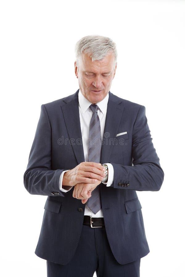 Старший портрет бизнесмена стоковое фото