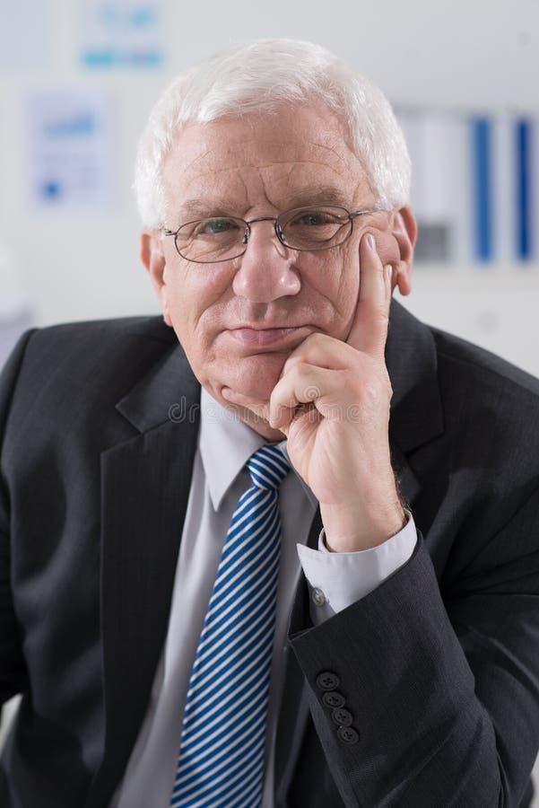 старший руководителя бизнеса стоковая фотография rf