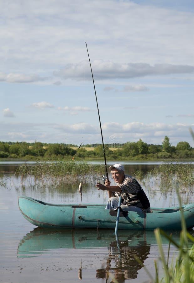 старший рыболова стоковые фото