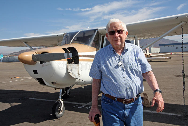 старший самолета мыжской приватный стоковые фотографии rf