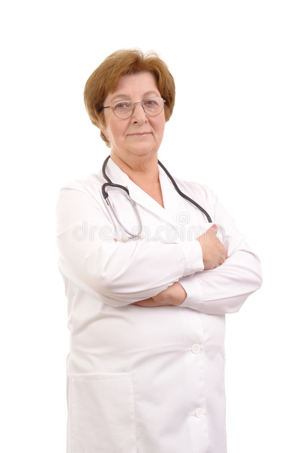 старший семьи доктора стоковое фото rf