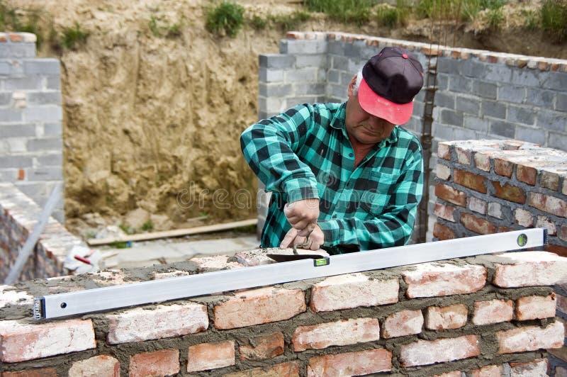 старший строителя домашний стоковая фотография rf