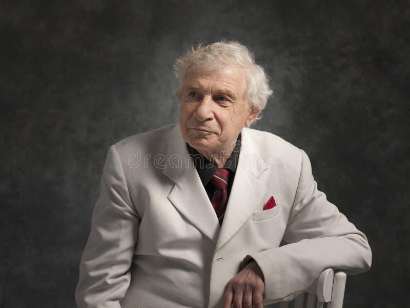 Старший счастливый человек стоковые изображения rf