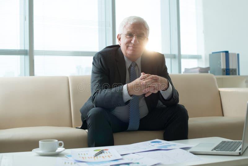 Старший финансовый эксперт стоковые фото