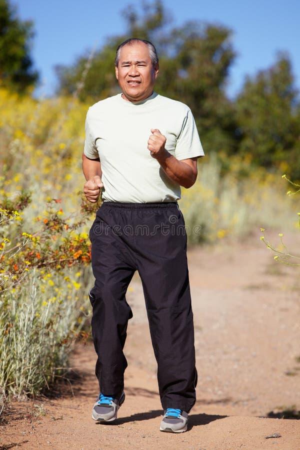 Старший человек jogging стоковые изображения