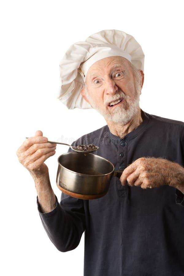 старший шеф-повара смешной стоковые фотографии rf
