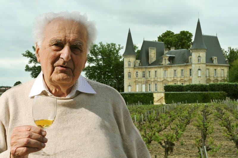 старший winemaker стоковая фотография rf