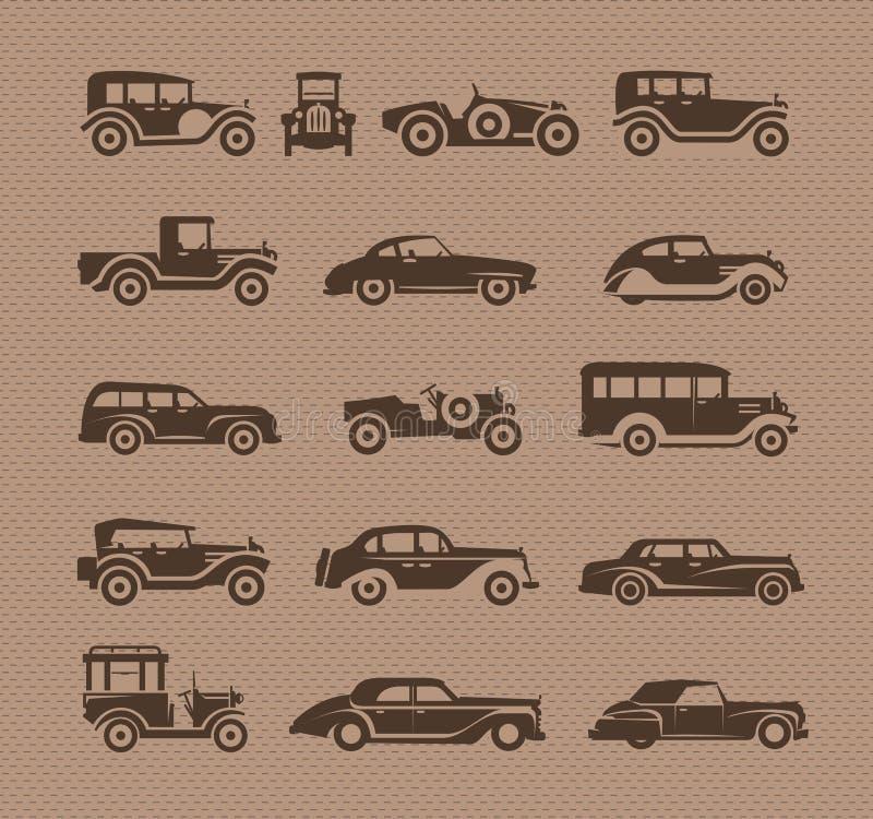 Старые автомобили. Формат вектора иллюстрация вектора
