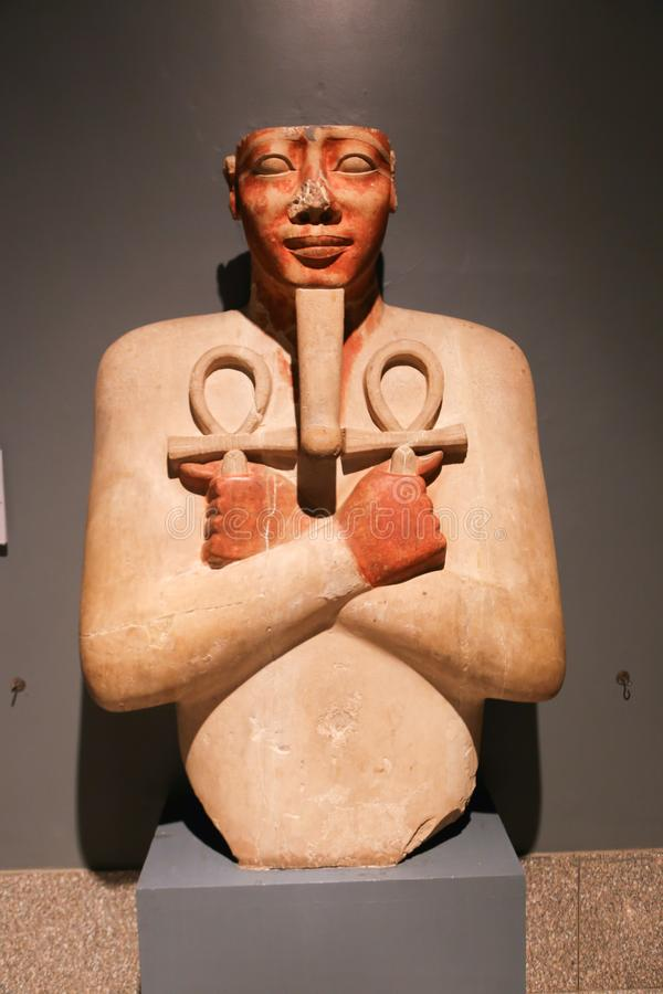 Старые антиквариаты на музее Луксора - Египте стоковое фото rf