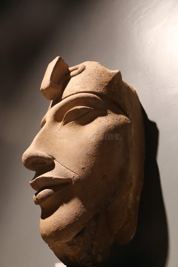 Старые антиквариаты на музее Луксора - Египте стоковые фотографии rf