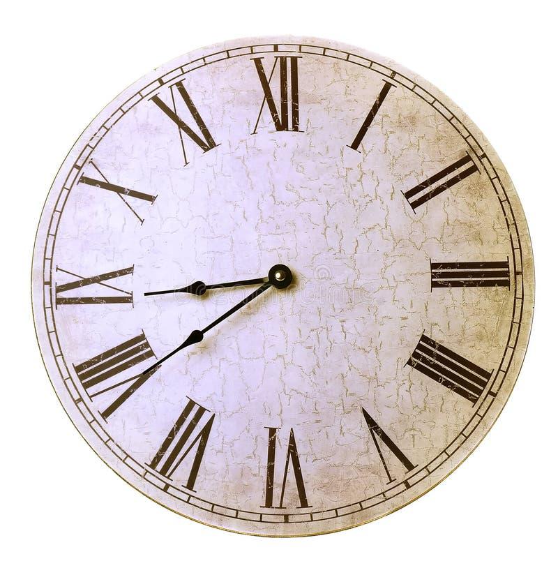 Старые античные часы стены стоковые фотографии rf