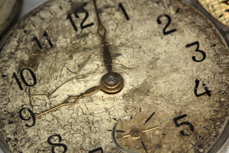Старые античные часы стены стоковое фото rf