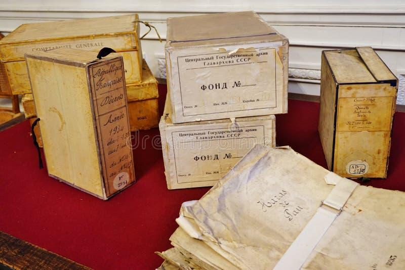 Старые архивы Nationales (национальные архивы) Франции в Париже стоковые изображения