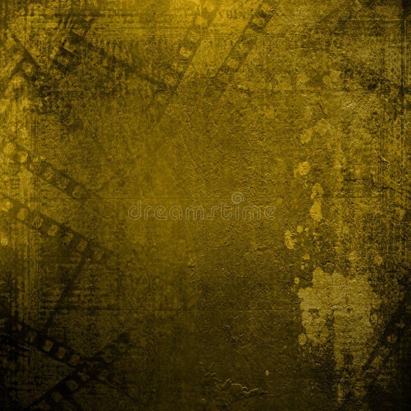 Старые бумаги и filmstrip grunge на отчуженной предпосылке иллюстрация вектора