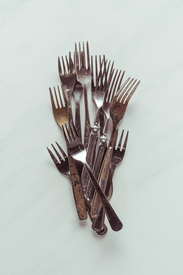 Старые вилки металла стоковые фотографии rf