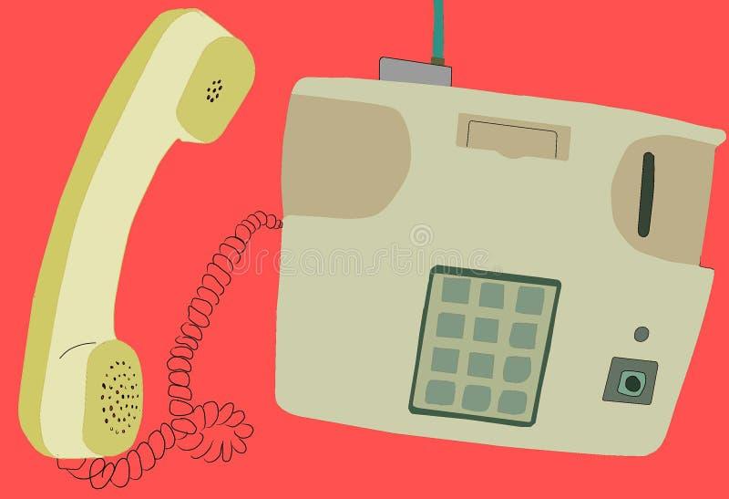 Старые винтажные телефон и значок старого классического антиквариата телефона стоковое изображение rf