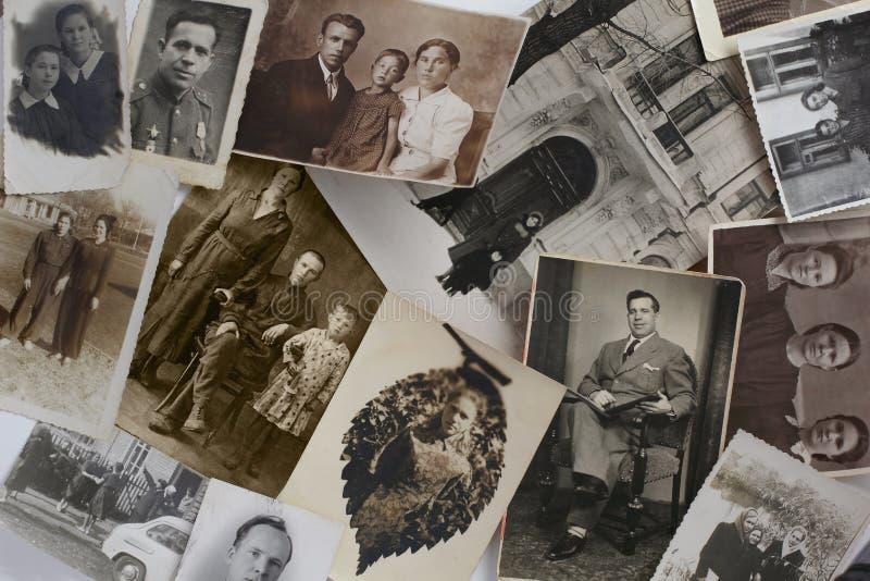 Старые винтажные фото стоковая фотография rf