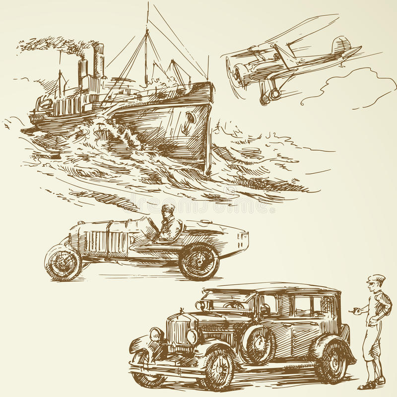 Старые времена иллюстрация штока