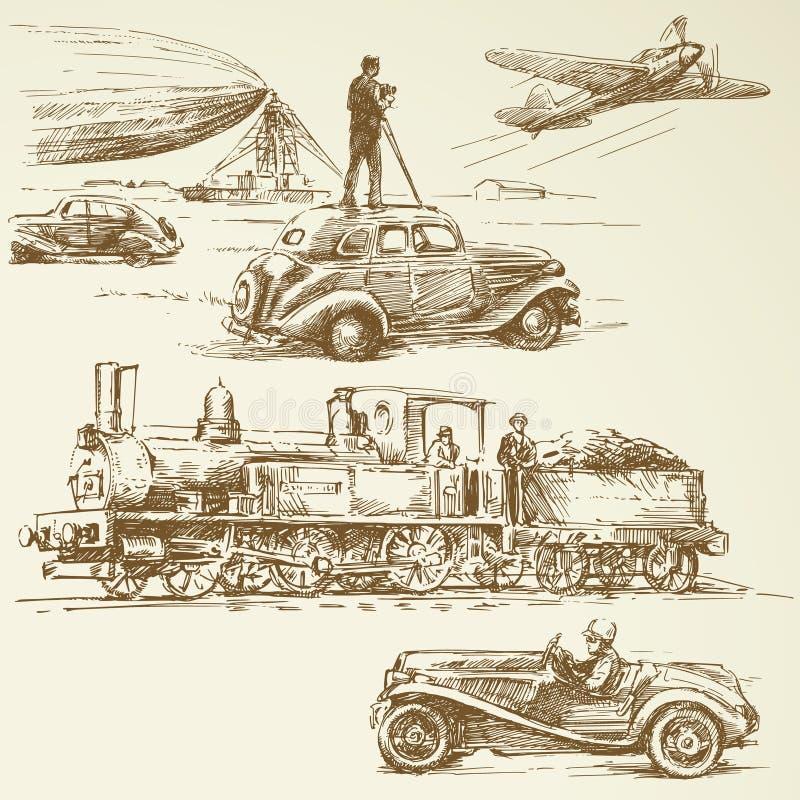 Старые времена иллюстрация вектора