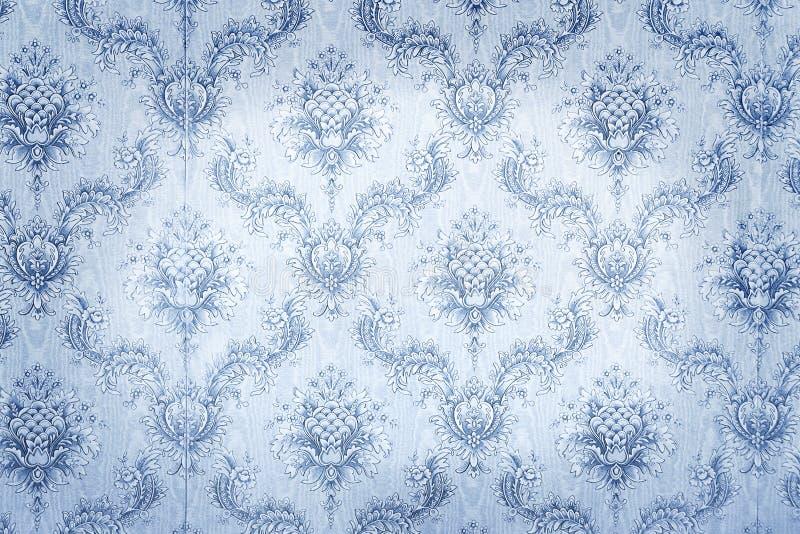 Старые голубые обои стоковое изображение rf