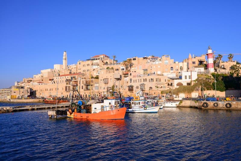 Старые городок и порт Яффы города Тель-Авив, Израиля стоковое фото rf