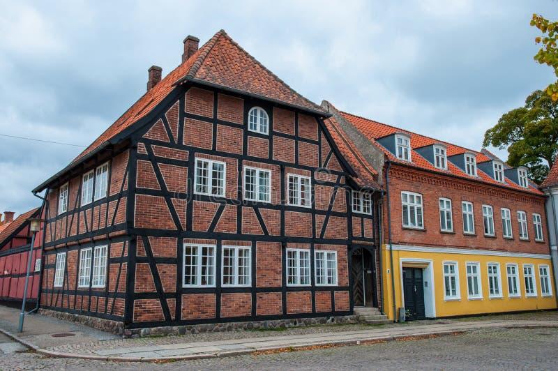 Старые дома в Дании стоковые фотографии rf